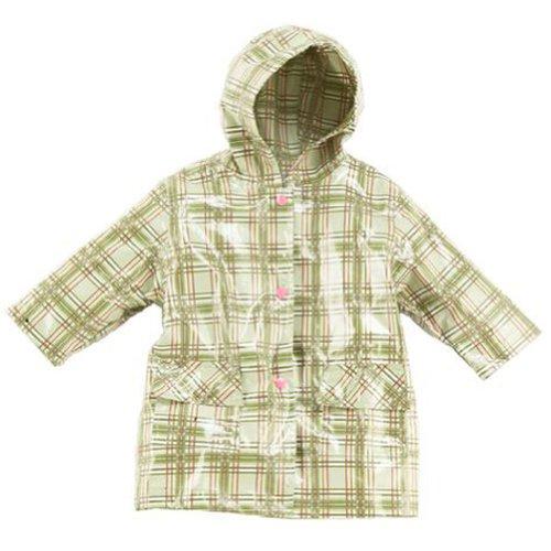 Pluie Pluie Little Girls Green Plaid Unlined Raincoat Outerwear 12M 8 B006X4K7IW