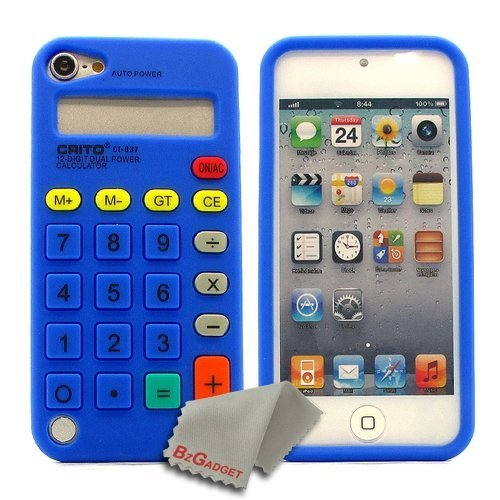 BZ Gadget Calculator Design Soft Case Cover for Apple iPod Touch 5G 5th Gen (Blue) + BZ Gadget Cleaning Cloth