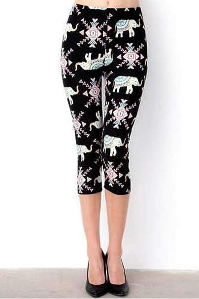 387d3ba1b47c85 New Mix Women's Plus Size Aztec Elephant Leggings at Amazon Women's  Clothing store: