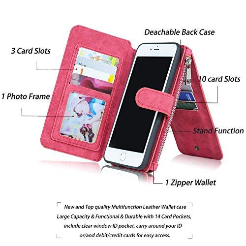 iPhone 8 Cassa Del Raccoglitore, Cuoio Premium Portafoglio Flip Caso Copertina Flip Case Con Slot Per Schede, Cassa In Contanti E Sottile Custodia In TPU Con Chiusura Magnetica [supporto Per Biglietti