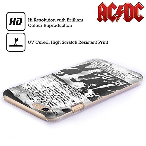 Officiel AC/DC ACDC Jouer Au Ballon Paroles Étui Coque D'Arrière Rigide Pour Apple iPhone 4 / 4S