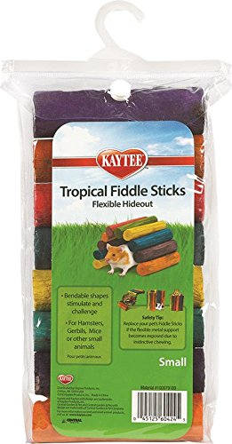 Fiddle Tropical Stick - Superpet (Pets International) SSR60424 Wood Small Animal Tropical Fiddle Sticks Flexible Hideout Toy, Small