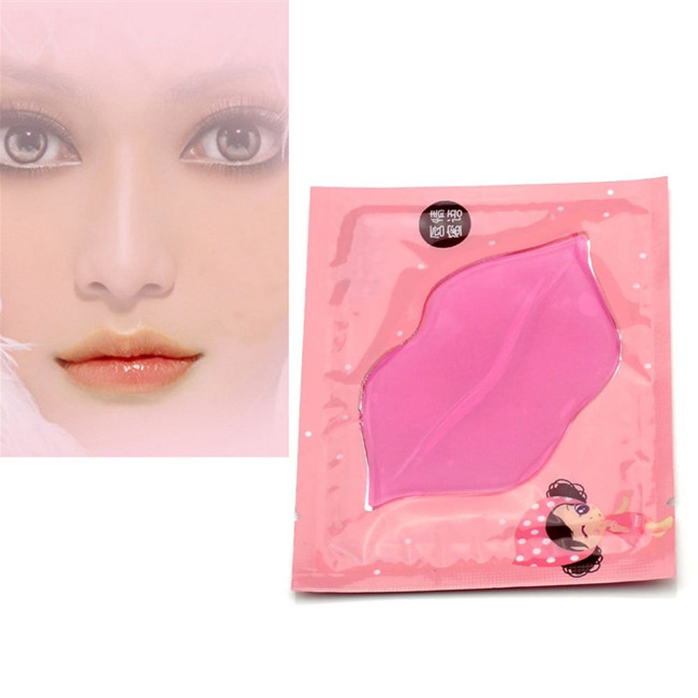 CCbeauty 20-Pack Pink Collagen Crystal Lip Mask Lip Plumper Mask Gel Care Mask Moisturer Essence Make Your Lip Attractive and Sexy by CCbeauty (Image #7)