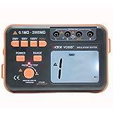 LEAGY VICTOR VC60B+ Digital Insulation Resistance Tester Megohm Meter DC250/500/1000V AC750V Orange with Black