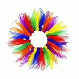 Kabi 24Pcs Juggling Scarves Square Dance Scarf Magic Movement Scarves for Children and Adults, 24 x 24 Inches in 6 Colors