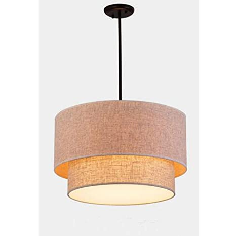 Lámpara Colgante Moderna Lámpara de techo lino sencilla con ...