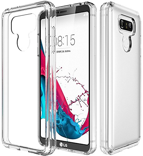 LG G6 Case,LG G6 Plus Case with See-Through and Drop Protection,Asmart TPU Grip Bumper & Clear Transparent Hard PC Backplate Hybrid Slim Thin Phone Case Cover for LG G6 Plus (Clear) (Cell Phone Covers Lg T Mobile)