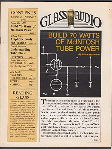 GLASS AUDIO Vol 2#1 1990 McIntosh Amp Testing Tube Phase Inverters +