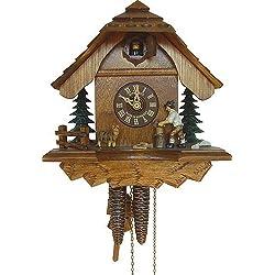 1-Day 9.5 in. Chalet Woodchopper Cuckoo Clock