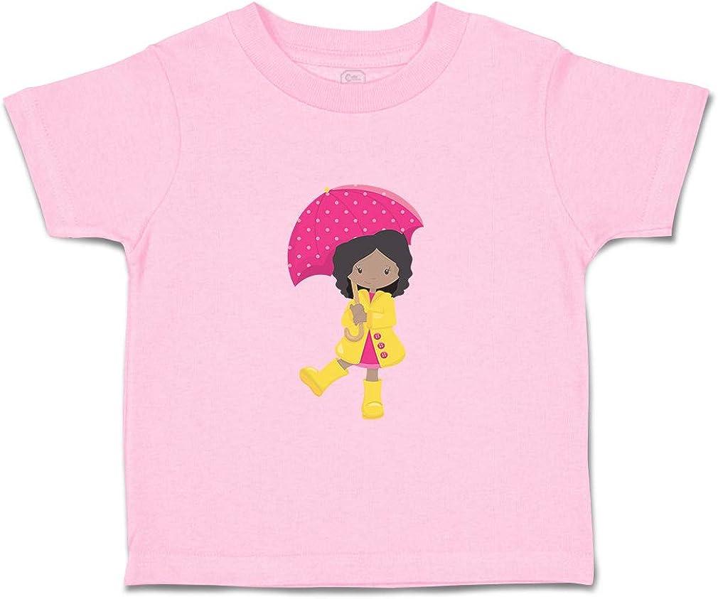 Custom Baby /& Toddler T-Shirt Girl Raincoat Pink Umbrella Dance B Cotton