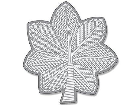 Amazon Magnet Military Rank Lieutenant Colonel Silver Leaf