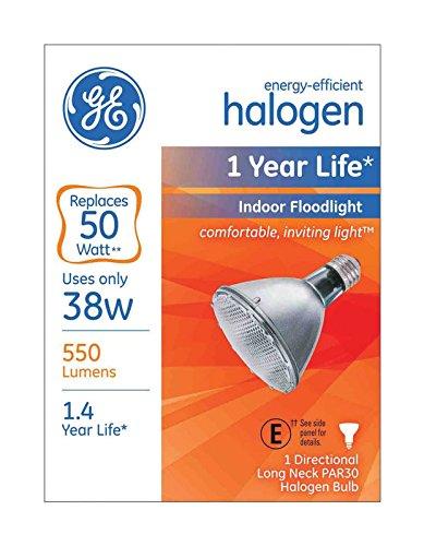 Ge Floodlight Bulb Long Neck 38 W 550 Lumens Halogen 2800 K Boxed