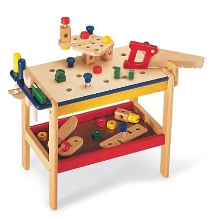 Holz Werkbank für Kleinkinder - Pintoy Werkbank