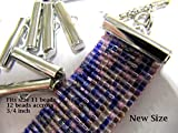 Bead Loom Slider Clasp, 3/4 Inch Long, 12 Package, Fits size 11 beads, Silver Color, Bead loom Clasp, Bracelet Findings, Loom Patterns Findings, 12 Package