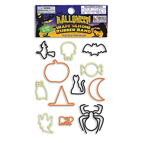 Halloween Shape Silicone Rubber Band Bracelets - 24 Packs of 12 -