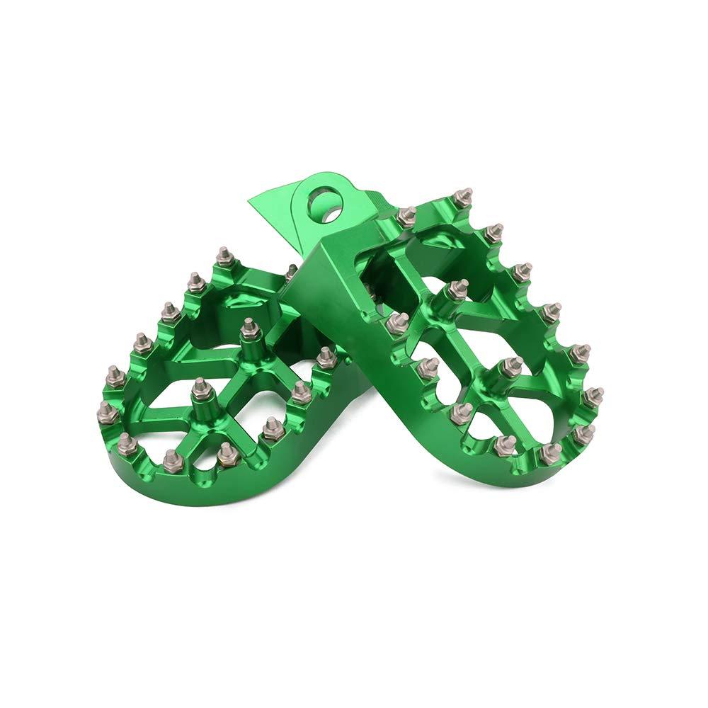 AnXin Foot Pegs Footpegs Footrest Foot Pedals Rests CNC MX For KAWASAKI KX65 00-19 KX80 98-00 KX85 01-19 KX100 98-19 SUZUKI RM65 03-05 RM100 03 Motorcycle Green