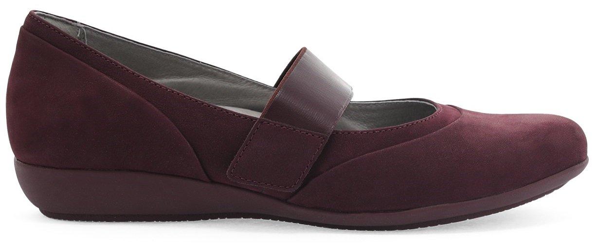 Dansko Women's, Kendra Low Heel Wedge Shoes B078J3P39P 42 Regular EU|Wine Millled Nubuck
