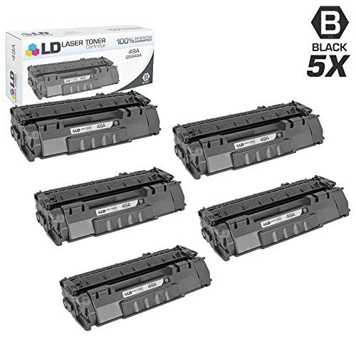 LD Compatible Toner Cartridge Replacement for HP 49A Q5949A (Black, 5-Pack)