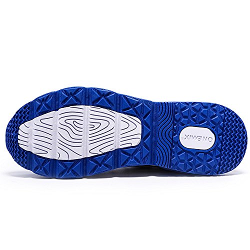 Onemix Mens Sneakers In Mesh Cuscino Daria Running Running Scarpe Traling Blu Giallo