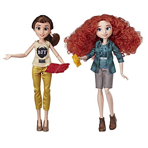 Disney Princess Ralph Breaks The Internet Movie Dolls, Belle and Merida Dolls with Comfy Clothes and Accessories -
