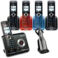 Vtech DS6472-6 DECT 6.0 Digital 5-Handset Cordless Phone Answering System