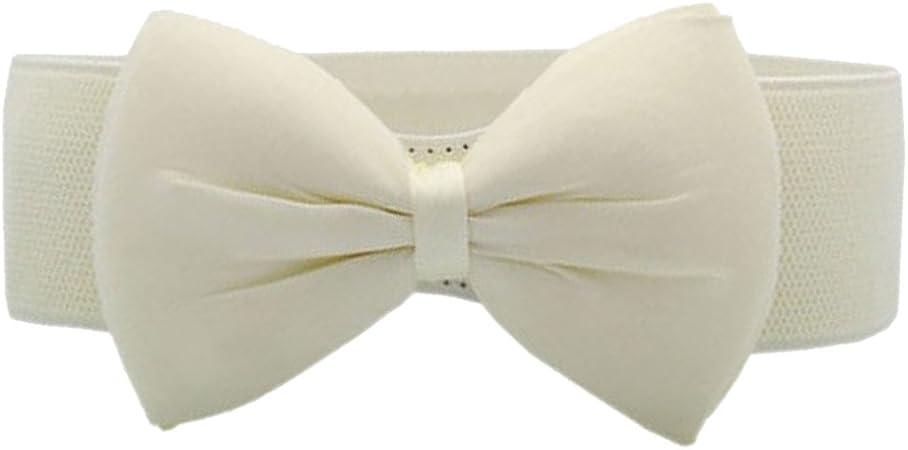 Women Fashion Bowknot Buckle Waistband Wide Elastic Stretch Waist Belt Amazing May 25