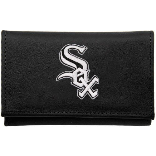 Chicago White Sox Embroidered Leather Trifold Wallet By Rico - Sox Embroidered Leather