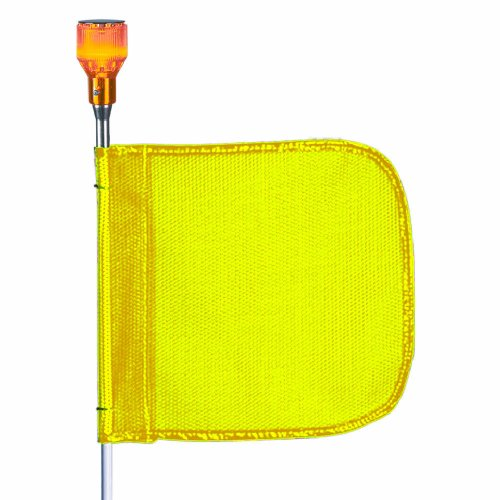 (Flagstaff FS3 Safety Flag with Light, Threaded Hex Base, 16