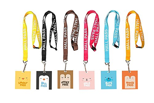 Hall Pass Lanyards and School Passes Cute Animals (Set of - Pass Hall