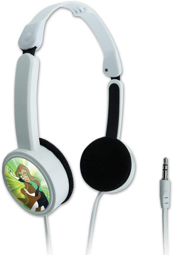 GRAPHICS & MORE DC Super Hero Girls Green Lantern Novelty Travel Portable On-Ear Foldable Headphones
