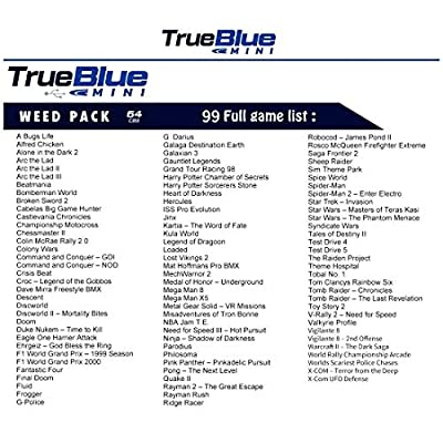 PeleusTech True Blue Mini Weed Pack for Playstation Classic - 64GB + 99 Games: Toys & Games