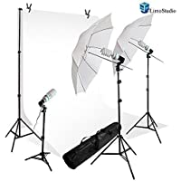 LimoStudio 600 Watt Lighting Kit + 10 x 10 Backdrop Background Portrait Studio 33 Umbrella Lighting Kit