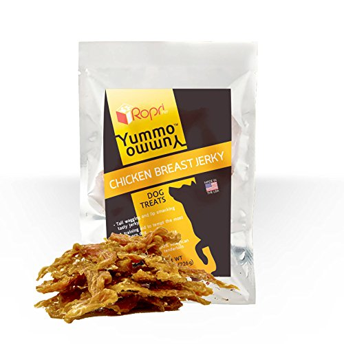 All Natural Chicken Jerky Dog Treats Grain Free, Organic, Healthy Dog Treats. Made in the USA Only, Your Dog Will Love Yummo Yummo by RopriPet (Usda Prime American Lamb)
