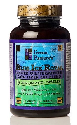 Green Pasture Blue Ice Royal Butter Öl/ Fermentierter Lebertran - 120 Kapseln