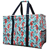 N. Gil Multi Purpose Carry All 24″ Mega Utility Tote Bag (Seahorse Navy Blue) Review