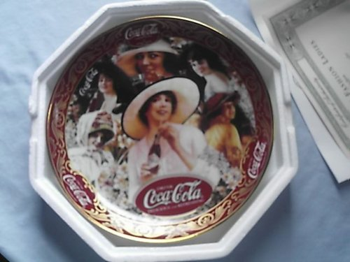 - Limited Edition Franklin Mint Coca-cola Fashion Ladies Plate 1996