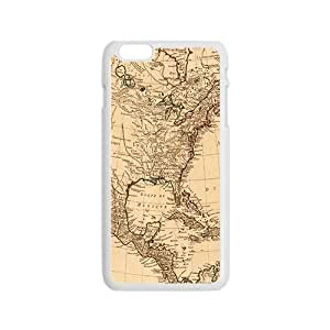 Ancient Map Buried Treasure WhiteiPhone 6 case