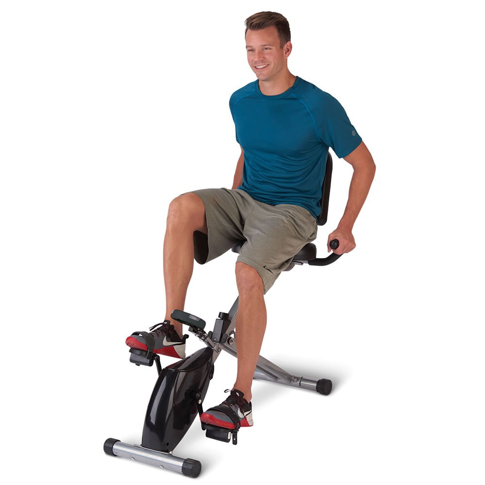 Hammacher Schlemmer The Foldaway Recumbent Exercise Bicycle