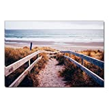 Startonight Canvas Wall Art Stairs To The Beach, Dual View Surprise Artwork Modern Framed Ready to Hang Wall Art 100% Original Art Painting 23.62 X 35.43 inch