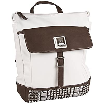 durable modeling Silverlake Faux Leather Rhinestone Laptop Backpack