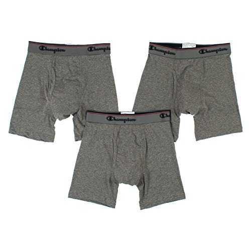 Champion Men Elite 3 Boxer briefs - Gray Size X-Large 40 - 42
