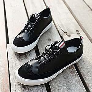 Zapatos YIXINY Deporte 2167390 Británico LUN Moda Juvenil Primavera Y Otoño Casuales para Hombres (Color : Negro, Tamaño : EU42/UK8.5/CN43)