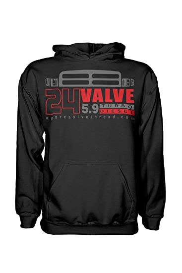 24 Valve Second Gen Dodge Ram Turbo Diesel Hoodie Sweatshirt at Amazon Mens Clothing store: