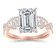1.31 Carat Designer Twisting Eternity Channel Set Four Prong Diamond Engagement Ring with a 0.71…