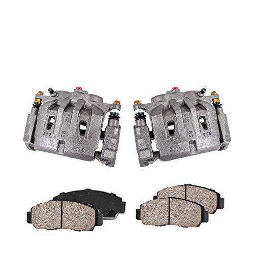 Callahan CCK04102 [2] FRONT Premium Loaded Original Caliper Pair + Ceramic Brake Pads + Hardware Brake Kit