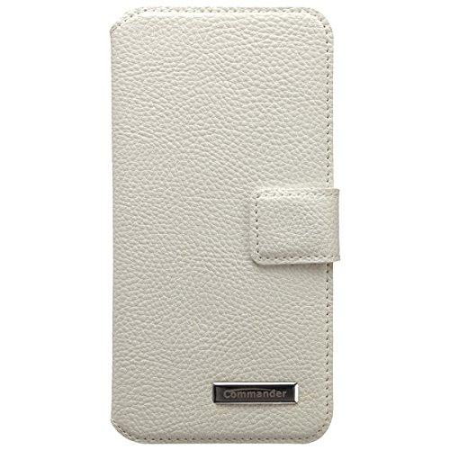 COMMANDER BOOK CASE für Apple iPhone 6 Leather White
