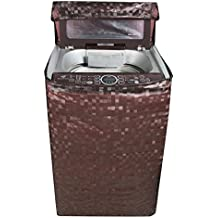 Kuber Industries Top Load Fully Automatic Washing Machine Cover In Square Design Brown Color (Suitable For 6 kg, 6.5 kg, 7 kg, 7.5 kg) (WMT11)