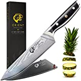 Orient 8 inch Damascus Steel Chef Knife Japanese VG10 Ultra Sharp Stainless Cooks Blade, Best Professional Cooking Chef's Knives Elite Series 67 Layer Gift Box & Sheath