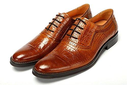 Hombres Boda Zapatos Toro castrado Vestir Encajes Negro Piedra Patrón Formal Negocio Cuero Oxford para Hombres marrón Trabajo tamaño 38-44 brown