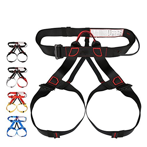 ShiningLove Climbing Harness Protect Waist Leg Climbing Harness Safe Seat Belts Band Aerial Work Safety Belt by ShiningLove